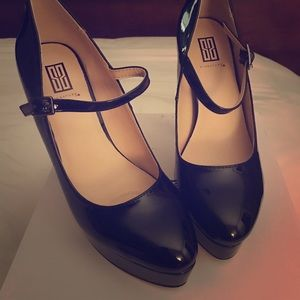 Black Patent Leather Classic Mary Jane Heels